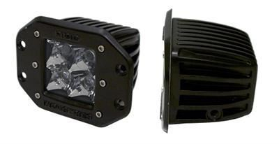Rigid Dually Series Clear Flush Mount Flood Light - Set of Two