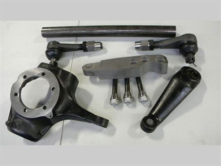 10 Bolt Dana 44 Cross-Over Steering Kit, Fullsize, Straight Draglink w/Ball Joints and Spindle Studs/Nuts