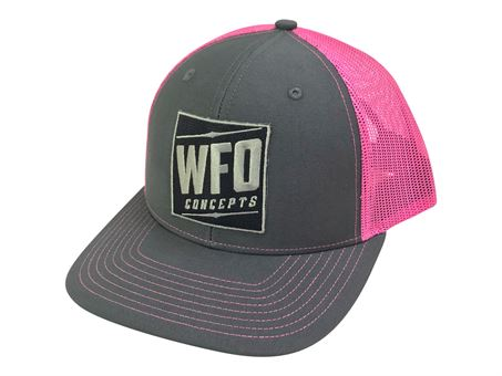 Neon Pink Trucker hat with WFO Patch  4fae2a56242