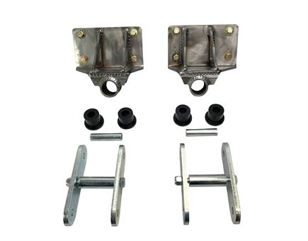"Chevy Shackle Flip Kit, 73-87 1/2 & 3/4 Ton, w/ 6"" Shackles"